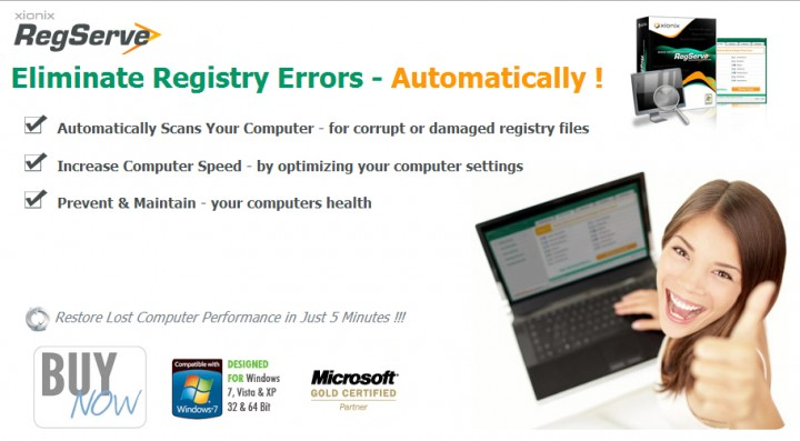 RegServe – Eliminate Registry Errors