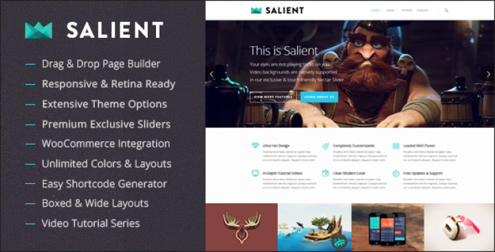 Salient – Responsive Multi-Purpose Theme