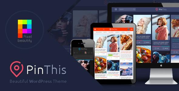 PinThis Best Pinterest Style WordPress Theme