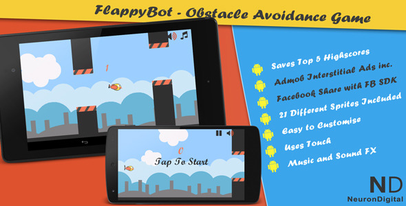 FlappyBot – An Obstacle Avoidance Game