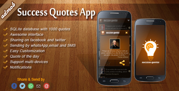 Success Quotes – Android Template