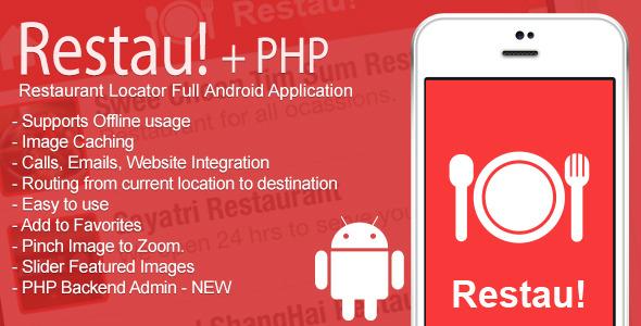 Restau! Full Restaurant Locator Android App