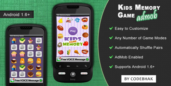 Kids Memory Game with AdMob