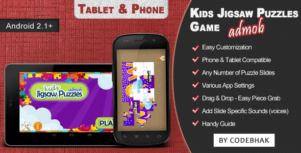 Kids Jigsaw Puzzle Game with AdMob